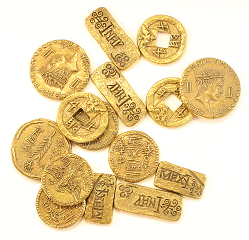 Coins used in 'Pirates of the Caribbean'